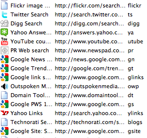 Firefox Quick Search Bookmarks