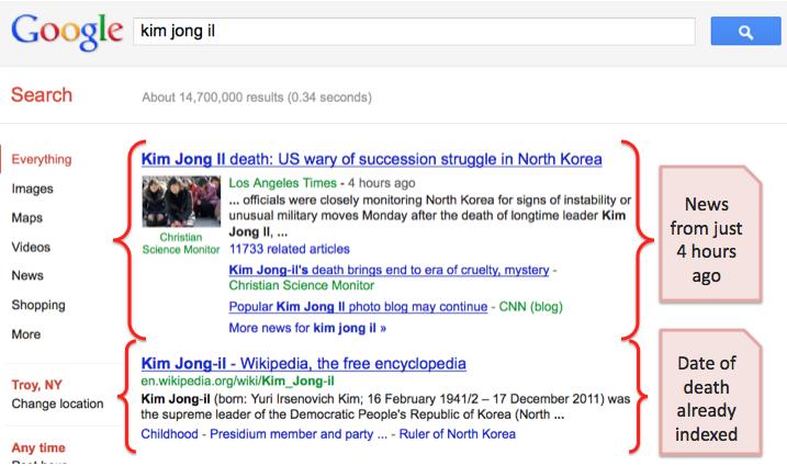Kim Jong-Il Google SERP Update