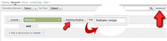 regular expressions and google analytics