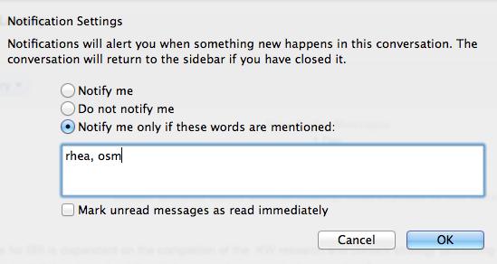 Skype Notification Settings