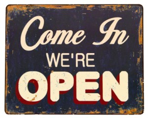 Come in. We're Open.