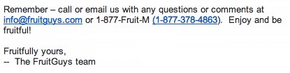 The FruitGuys Contact Information