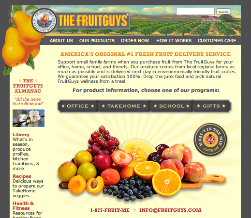 The FruitGuys Web site