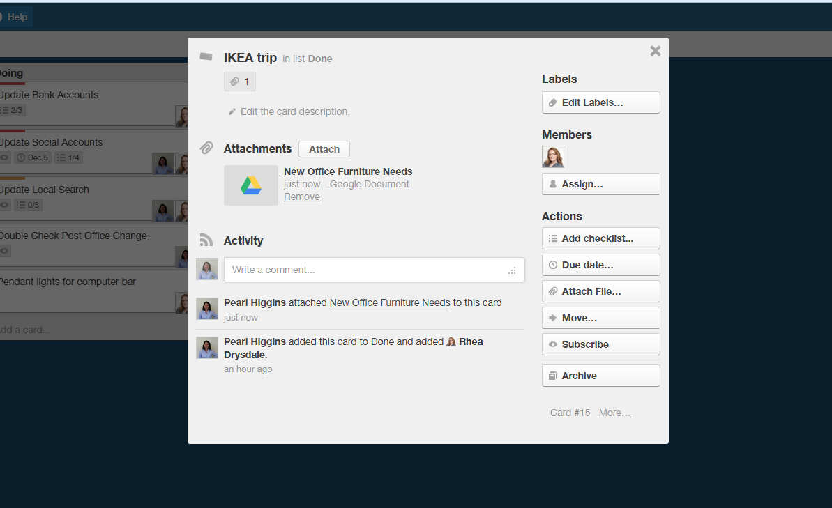 Trello Dropbox Integration