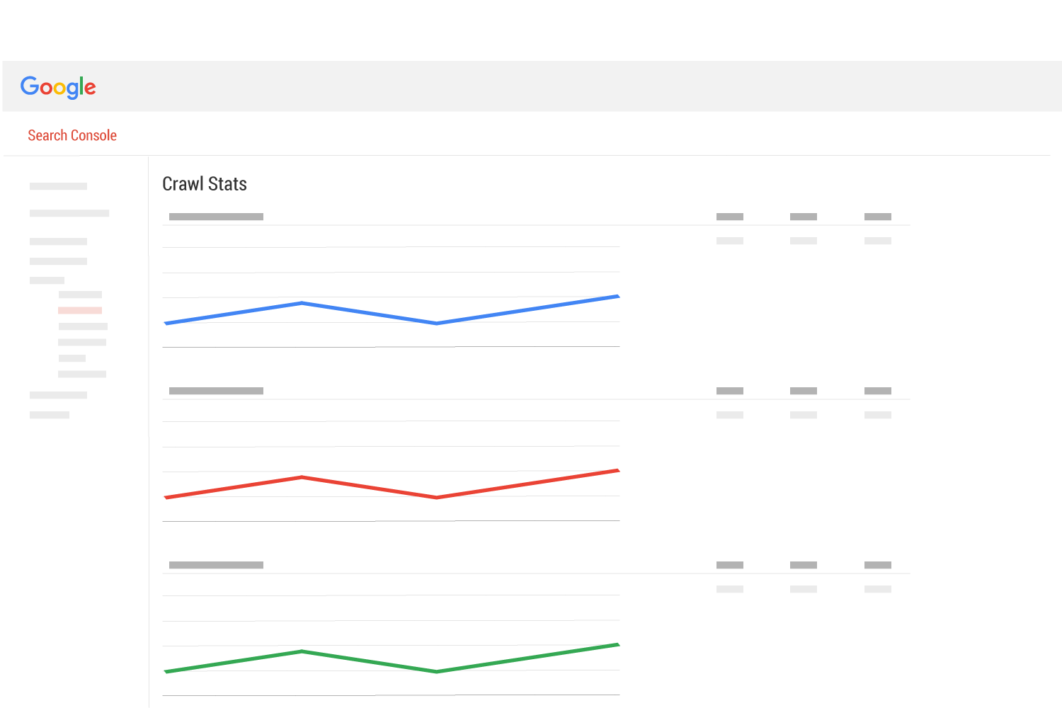 Google search console crawl stats page